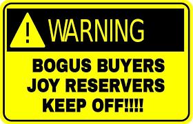 Warning No Bogus Buyer