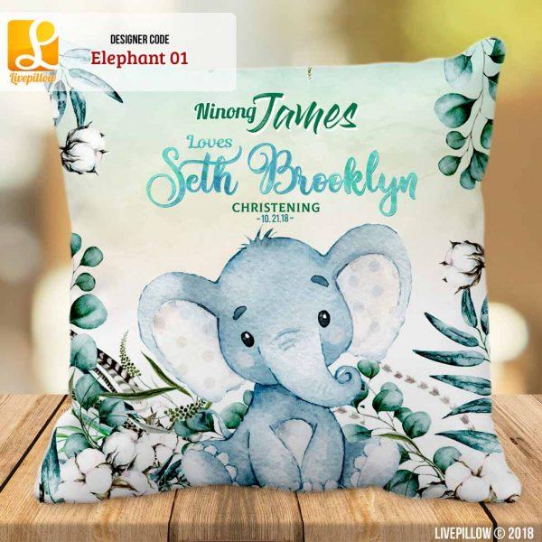 Elephant Pillow Customized Souvenir