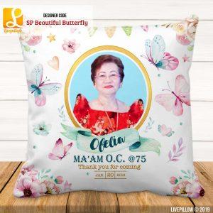 Butterfly Pillow Customized Souvenir