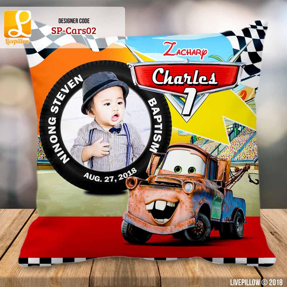 disney cars customized souvenir pillow