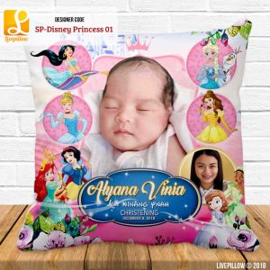 Disney Princess Pillow Customized Souvenir
