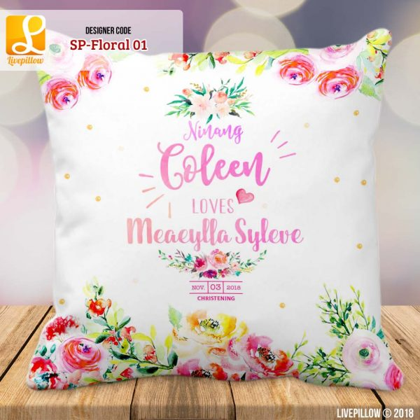 Floral Pillow Customized Souvenir
