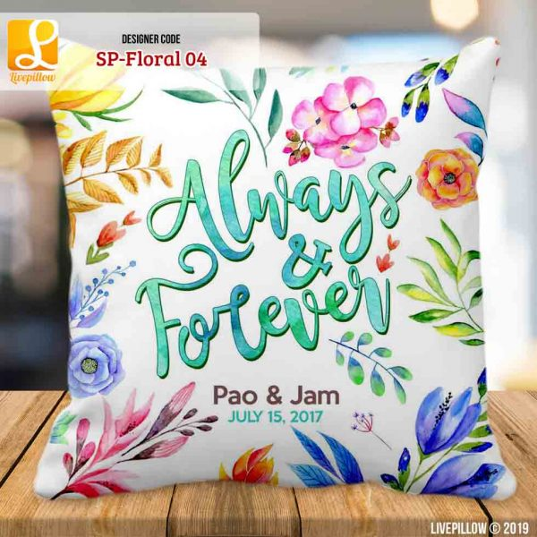 Floral Pillow Customized Souvenir