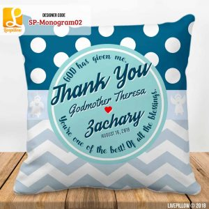 Monogram Pillow Customized Souvenir