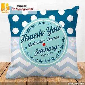 Monogram Pillow Customized Souvenir
