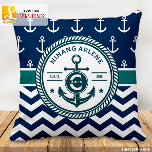 Nautical Pillow Customized Souvenir