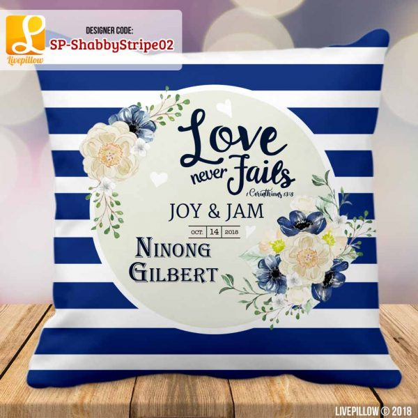 Shabby Chic Pillow Customized Souvenir